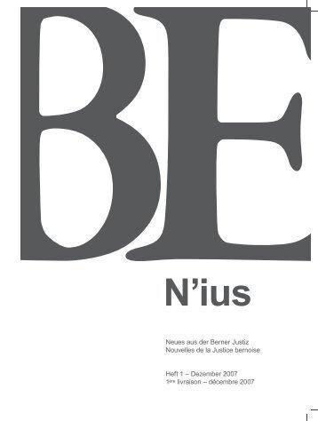 Neues aus der Berner Justiz Nouvelles de la Justice bernoise Heft 1 ...
