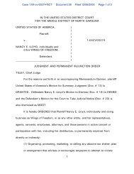 JUDGMENT AND PERMANENT INJUNCTION ORDER