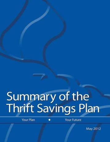 Form TSP-70 - Thrift Savings Plan