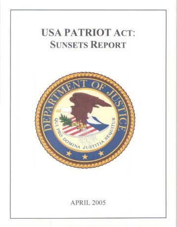 an introduction to the issue of the usa patriot act 2018-2-20  patriot act us patriot act patriot usa act education act stamp act privacy act repatriation act security act telecommunications act.