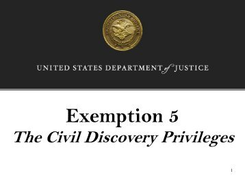 Exemption 5 - Department of Justice