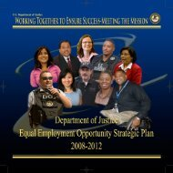 Equal Employment Opportunity Strategic Plan - Department of Justice