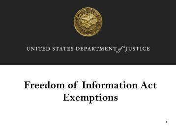 Freedom of Information Act Exemptions