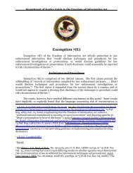 Exemption 7(E) - Department of Justice