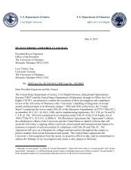 UM Letter of Findings - Department of Justice