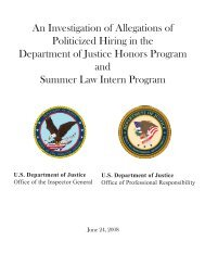 An Investigation of Allegations of Politicized Hiring - Department of ...