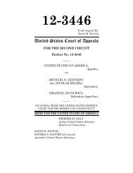 July 12, 2013 US v. Kennedy 2nd circuit brief - U.S. Department of ...