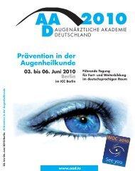Prävention in der Augenheilkunde - AAD Augenärztliche Akademie ...