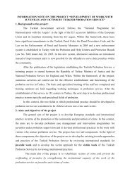 INFORMATION NOTE ON THE PROJECT ... - Ministry of Justice