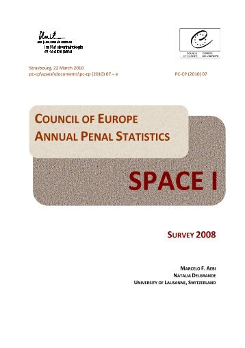 CoE Annual Penal Statistics Survey 2008 - Ministry of Justice
