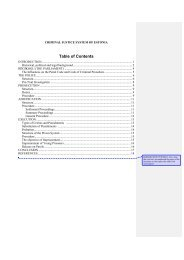 Table of Contents - Ministry of Justice