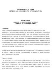 FREE MOVEMENT OF GOODS, PERSONS AND ... - Ministry of Justice