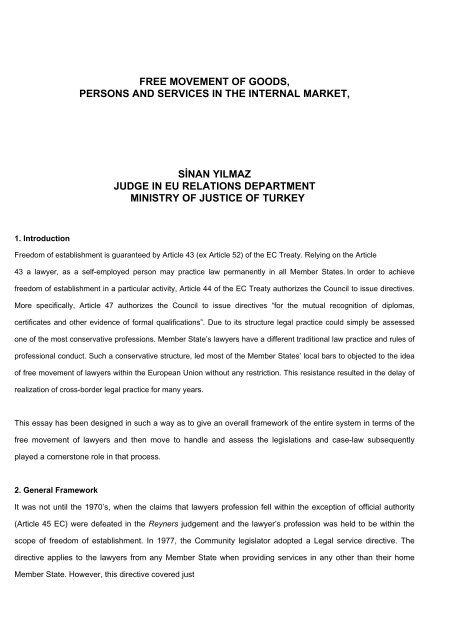 free movement of persons eu law essay
