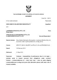 King Sabata Dalindyebo Municipality v Landmark Mthatha (Pty) Ltd ...