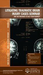 litigating traumatic brain injury cases seminar - American ...