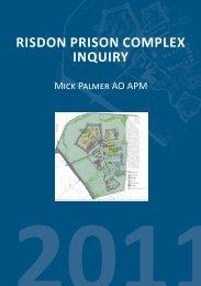 risdon prison complex inquiry - Tasmanian Department of Justice