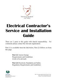 Electrical Contractor's Service and Installation Guide - Tasmanian ...