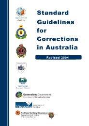 Standard Guidelines for Corrections in Australia - Queensland ...