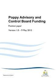 Poppy Advisory and Control Board Funding - Tasmanian ...