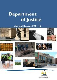 Department of Justice Annual Report 2011-12 - Tasmanian ...