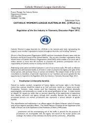 Catholic Womens League - Tasmanian Department of Justice