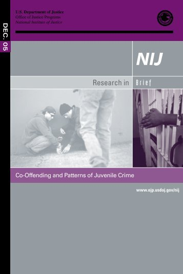 Co-Offending and Patterns of Juvenile Crime - justice studies