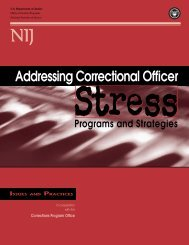 Addressing Correctional Officer Stress: Programs ... - justice studies