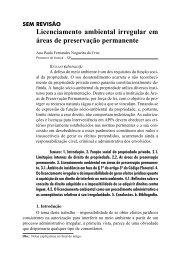 Licenciamento ambiental irregular em áreas de ... - Revista Justitia