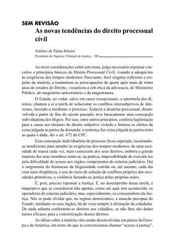 (Cível) As Novas Tendências do Direito Processual Civil