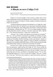 A filiação no novo Código Civil - Revista Justitia