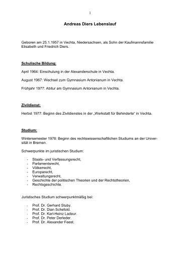 Andreas Diers Lebenslauf - DIE LINKE in Bremen