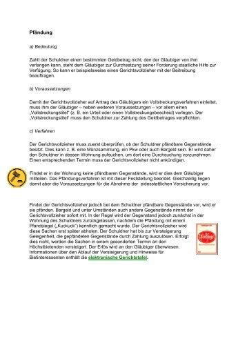 Pfändung - Justiz in Sachsen