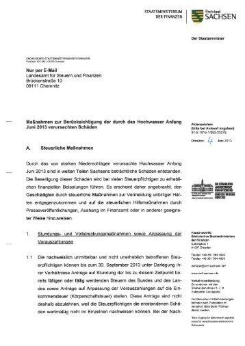 STAATSMlNlS'TI-ERNUM DER FlNANZEN - Justiz in Sachsen