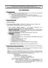 Lösungsskizze Zivilrecht November 2013 - Justiz in Sachsen
