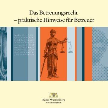 Das Betreuungsrecht – praktische Hinweise - Justizportal Baden ...