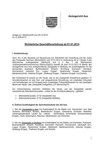 (Stand: 01.01.2014) [Download,*.pdf, 175,90 KB] - Justiz in Sachsen