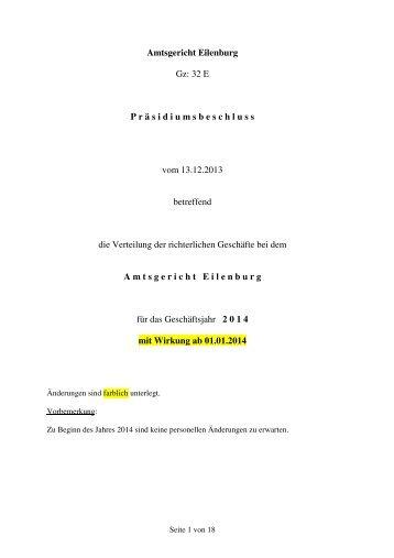 Geschäftsverteilung 2014 [Download,*.pdf, 71,66 ... - Justiz in Sachsen