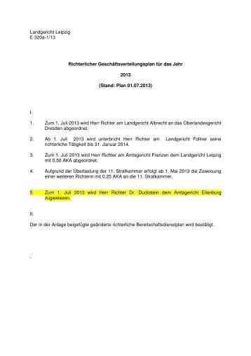 Stand: 01.07.2013 [Download,*.pdf, 202,24 KB] - Justiz in Sachsen