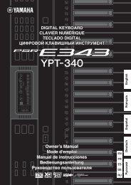 Bedienungsanleitung - Yamaha
