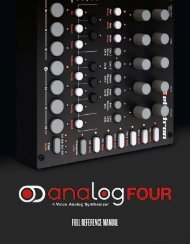 Analog Four Reference Manual - Just Music