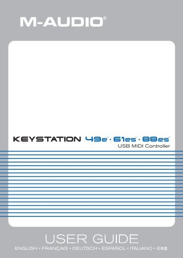 Keystation Series 49e-61es-88es User Guide - Just Music