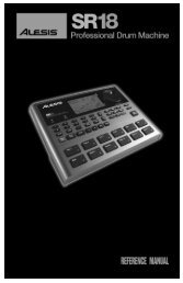 Alesis SR18 Reference Manual - RevD - Just Music