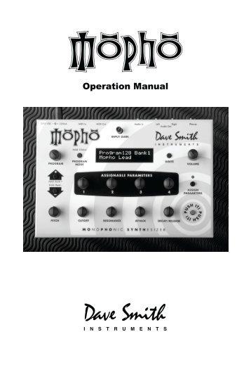 Operation Manual - Analogue Haven