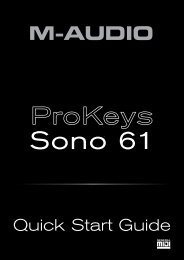 ProKeys 61 Quick Start Guide - Just Music