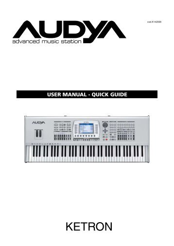 USER MANUAL - QUICK GUIDE - Just Music