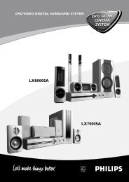 DVD HOME CINEMA SYSTEM DVD HOME CINEMA ... - Philips