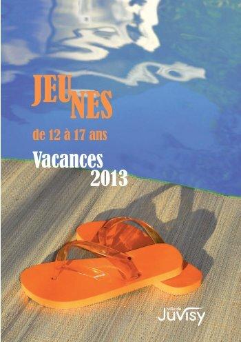 Vacances 2013 pour les enfants 12-17 ans - Ville de Juvisy-sur-Orge