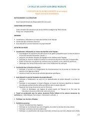 L A VILLE DE JUVISY-SUR-ORGE RECRUTE