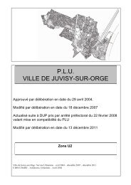 Secteur U2 - Ville de Juvisy-sur-Orge