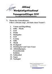 I Have a Dream - Protestantische Jugendzentrale Kirchheimbolanden